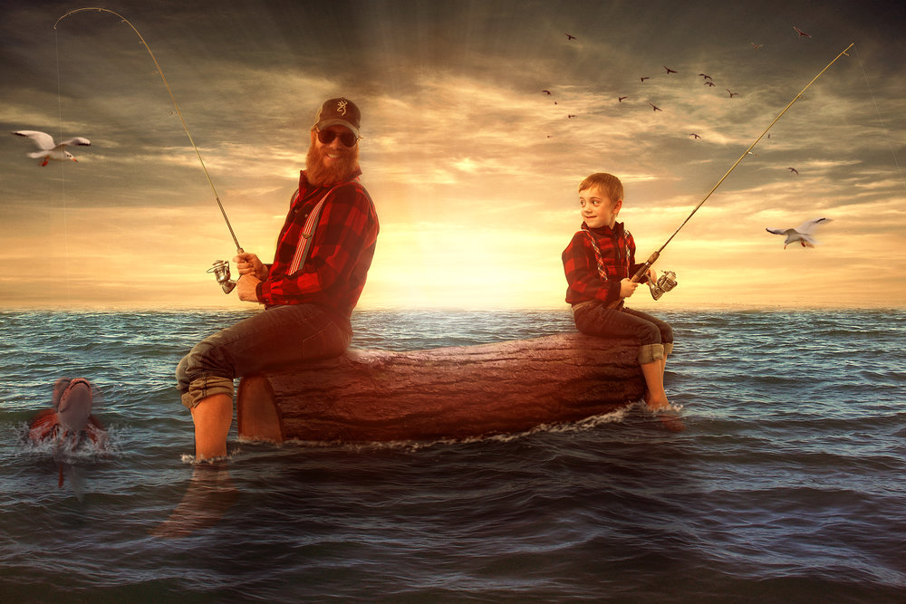 Ben Victor Fishing_sunset_red shirt.jpg