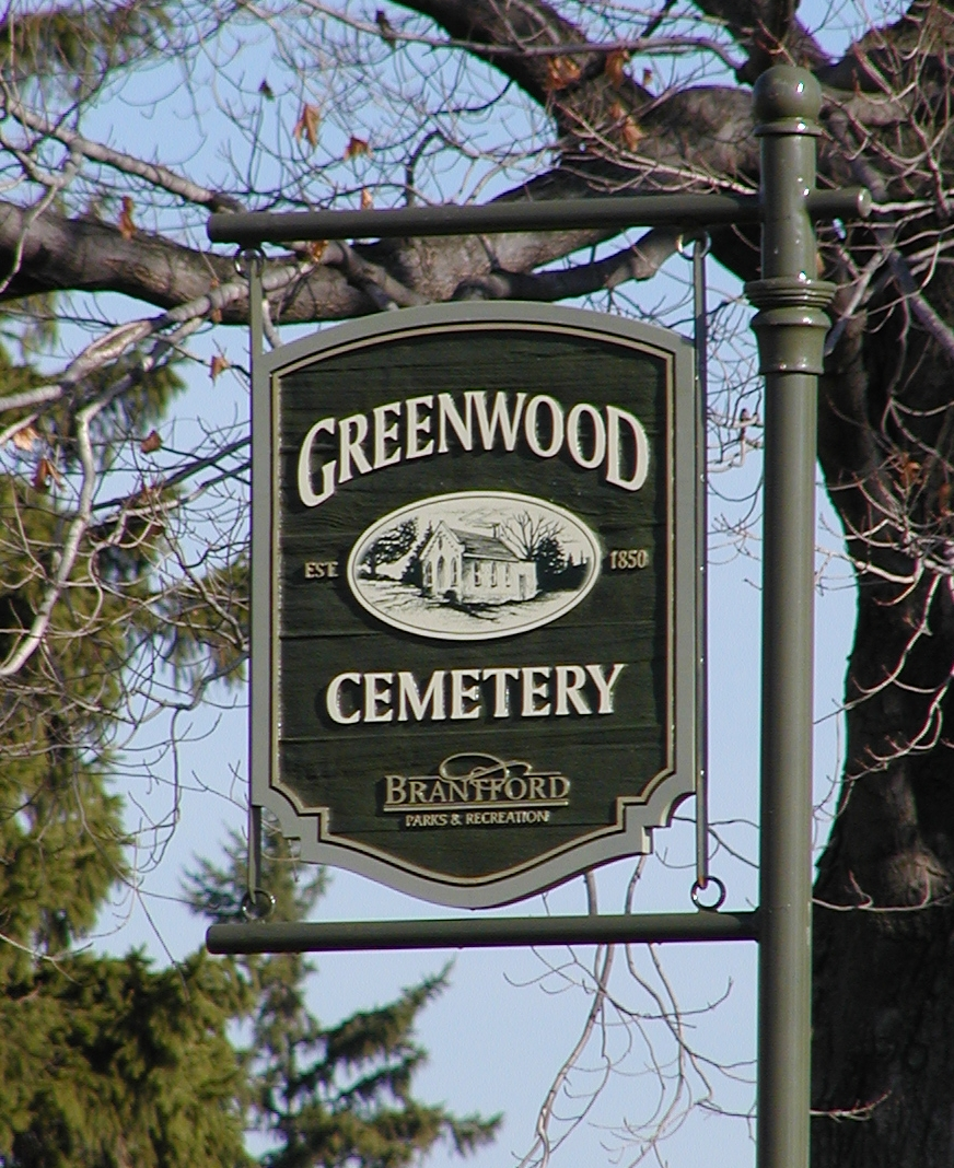 Greenwood Cemetery Sign