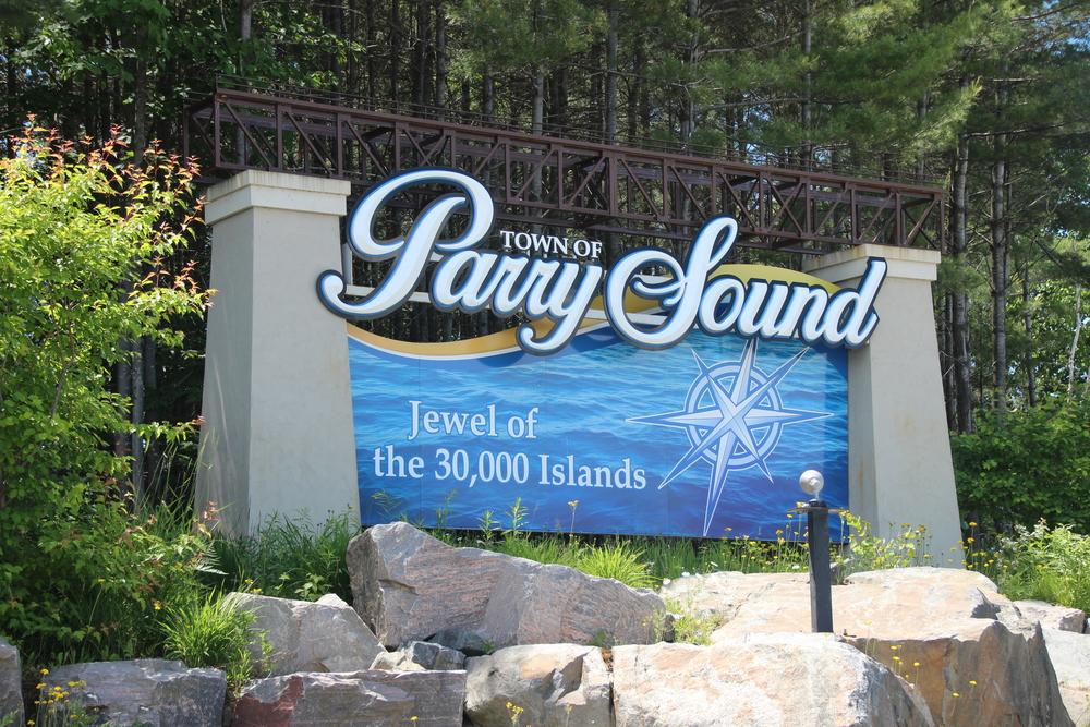 Parry Sound Gateway Sign