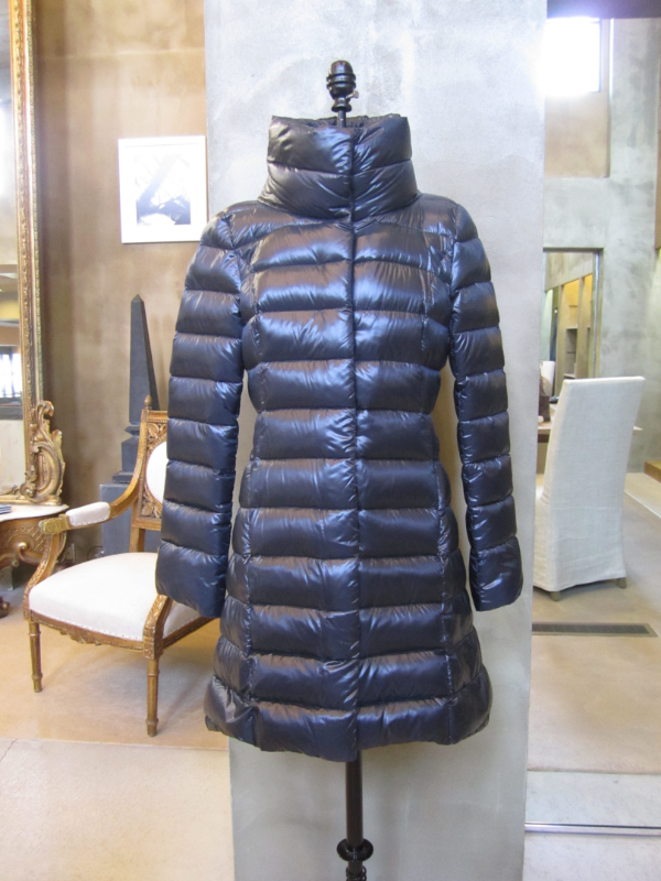 Herno Down Filled Puffer in Navy.  All spines removed from feathers to be extremely light.  Made in Italy.  Available in 6 and 8.  Originally $650, now $325.
