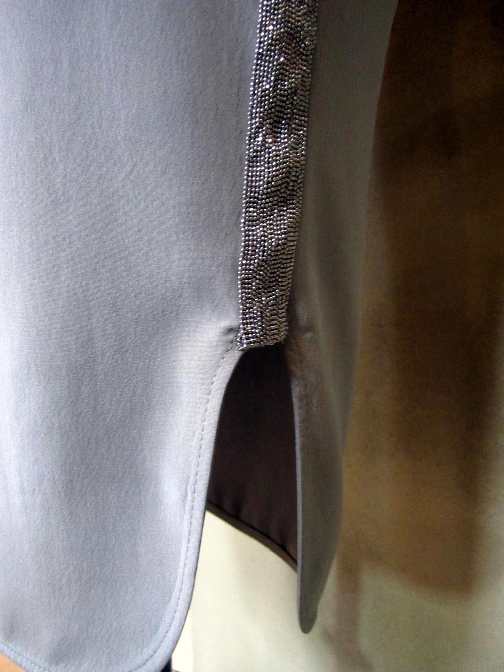 Pull-On Silk Skirt Athletic Monili Detail.