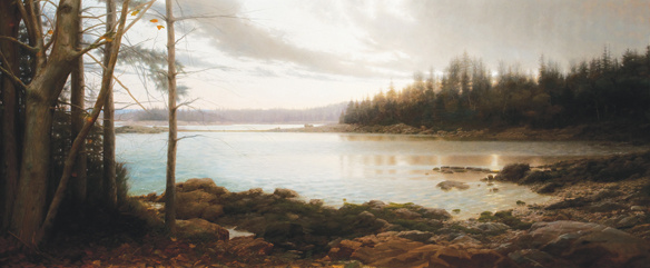 The Hen Islands from Eastholm, Oil on Canvas, 50'' x 120'' inches, 2008