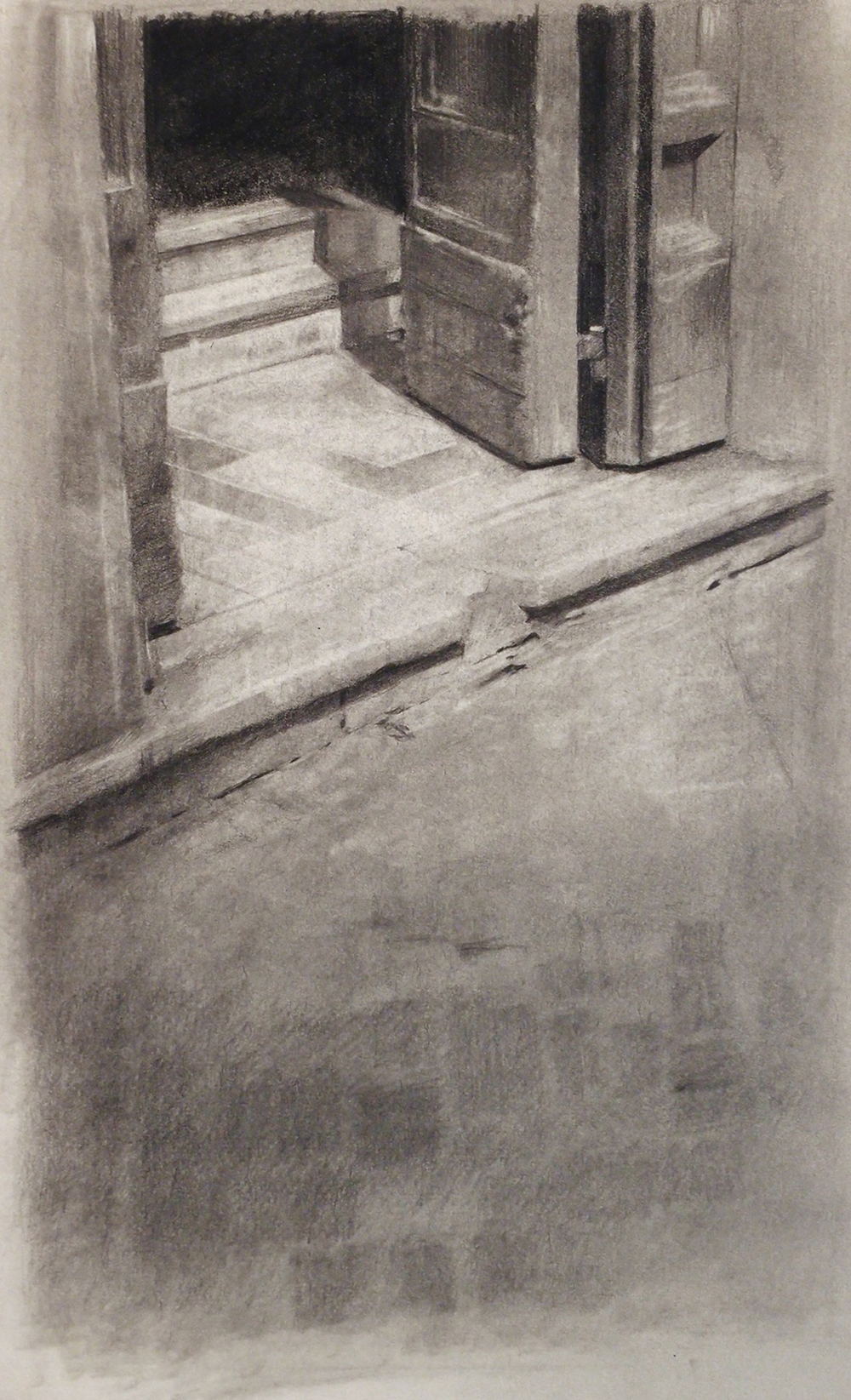 Doorway, Florence, 2014, Pencil on Paper, 18x12