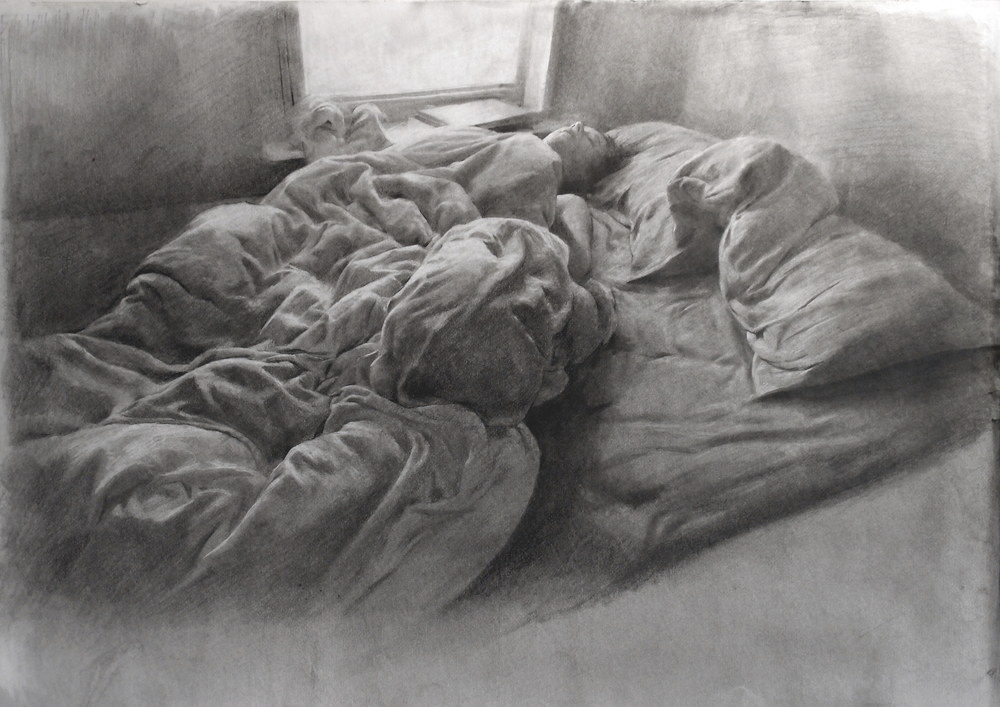 Sleeper, 2014, Graphite on Paper, 17x24