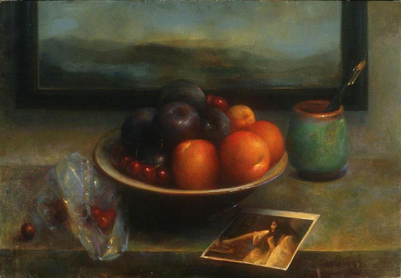 "Juliette Aristides ""Touch"", oil on linen, 18.5 x 26.5"