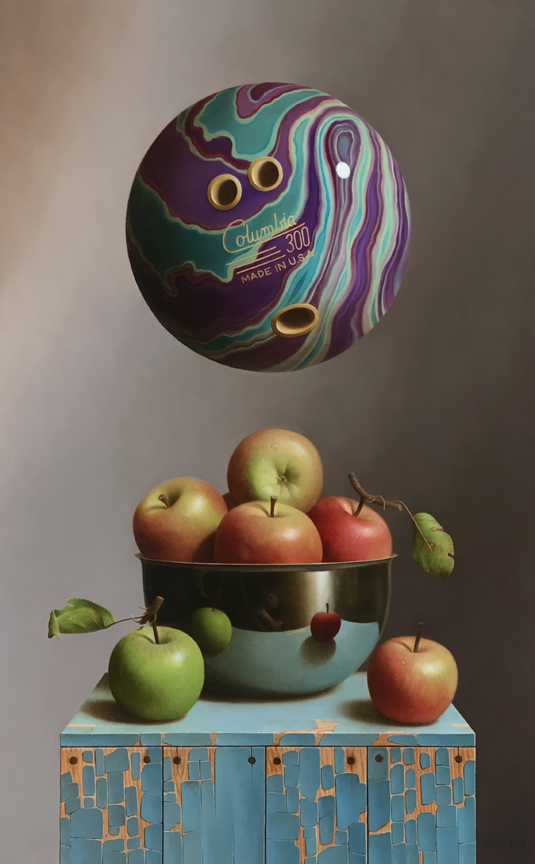 "Apple Sauce"" 27 x 17 inches, oil on panel"