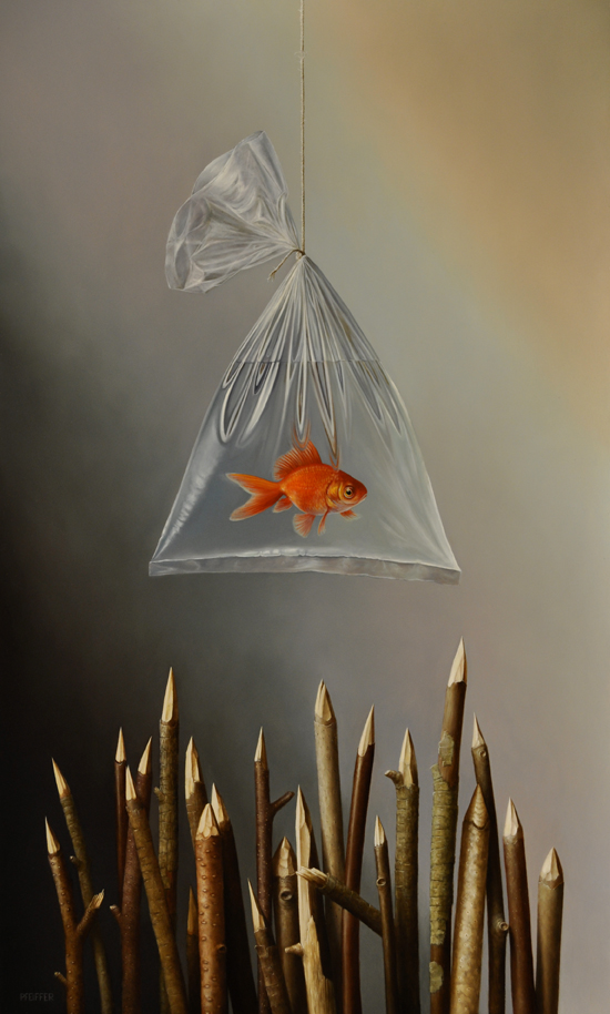 """Fish Sticks II"" 30 x 18 inches"