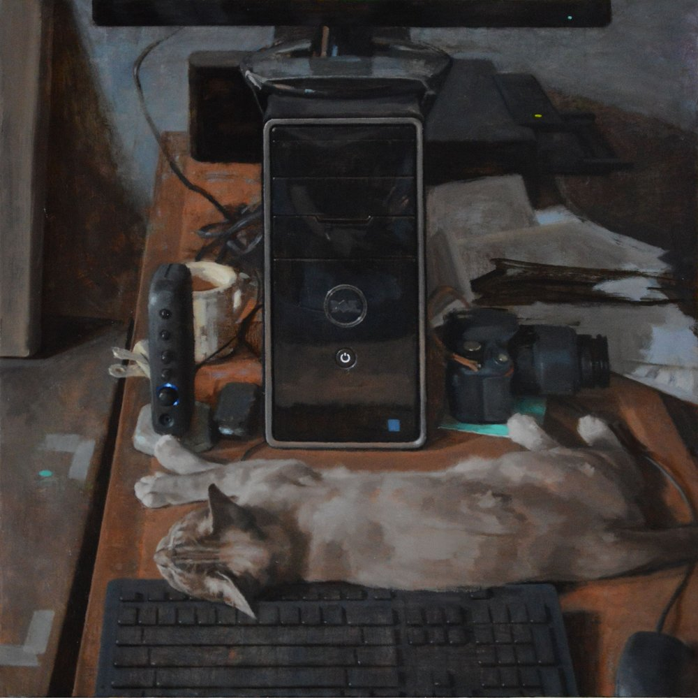 3w4e44455555eeeeeeeeeeeeeeeeeeeeeeeeee, oil on canvas, 28 x 28 inches