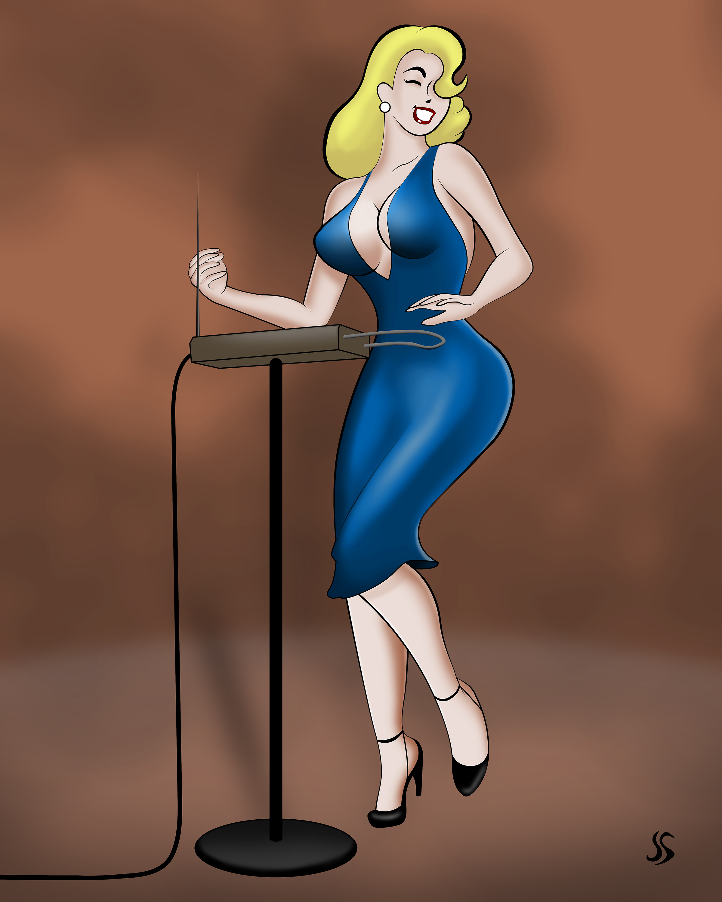 theremin pinup by jason snyder