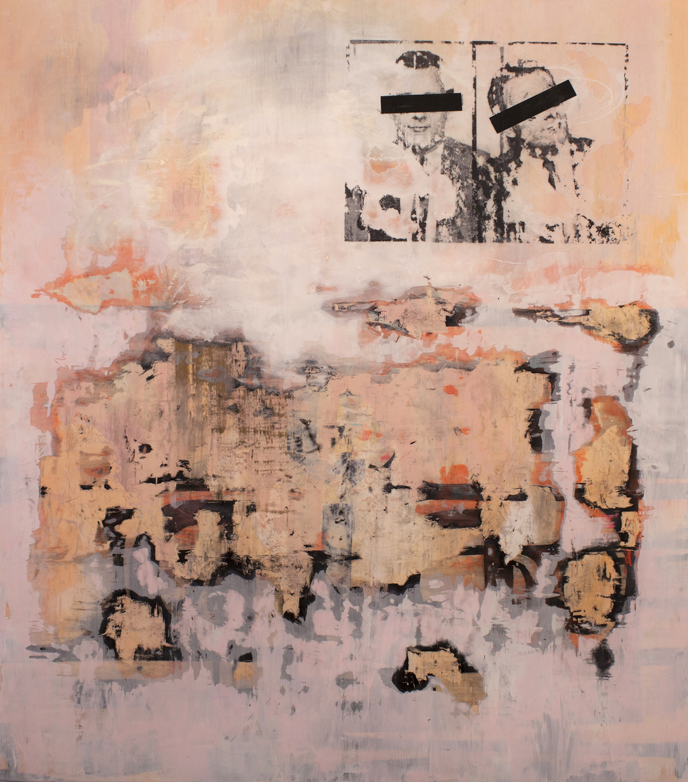 Stephanie Armbruster, Signs and Premonitions, encaustic on panel, 54 x 48, 2013