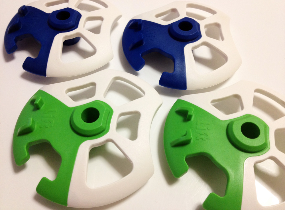 Production samples of the Lift Basket ski pole tips