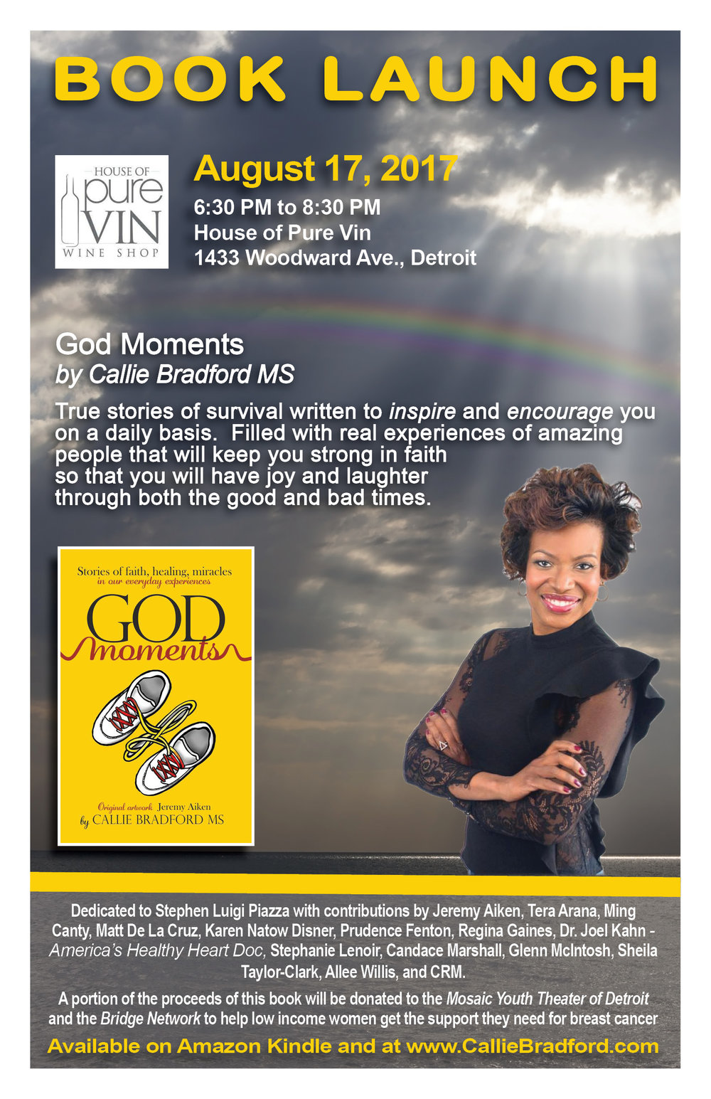 God Moments Book Launch Flyer
