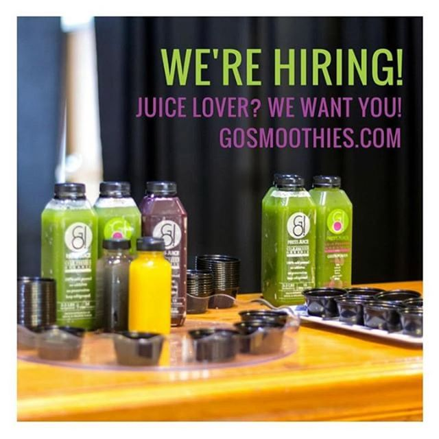 Know of a juice lover or health fanatic? Send them our way! We're looking to bring on a juice team member.☺️