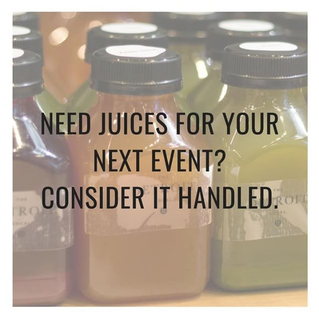 Are you hosting an event soon and need vendors? Perhaps you want to offer a selection of cold pressed juices for your next office event? Message us to learn more about our corporate and event rates. ⠀⠀⠀⠀⠀⠀⠀⠀⠀ ⠀⠀⠀⠀⠀⠀⠀⠀⠀ -----------------------------------------------⠀⠀⠀⠀⠀⠀⠀⠀⠀ #smoothies #juice #healthylifestyle #health #michigan #vegan #veganhealth #natural #food #plantbased #plantbaseddiet #cleaneating  #detroit  #michigan  #superfoods #eatclean #instafood #livingwell #wellness #coldpressed #juice