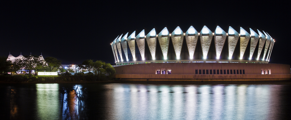 Hampton Coliseum during an event night