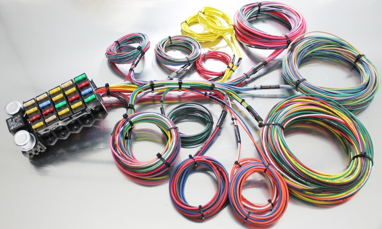 22 circuit budget wire harness tbc race cars rh tbcworks com universal car stereo wiring harness universal race car wiring harness