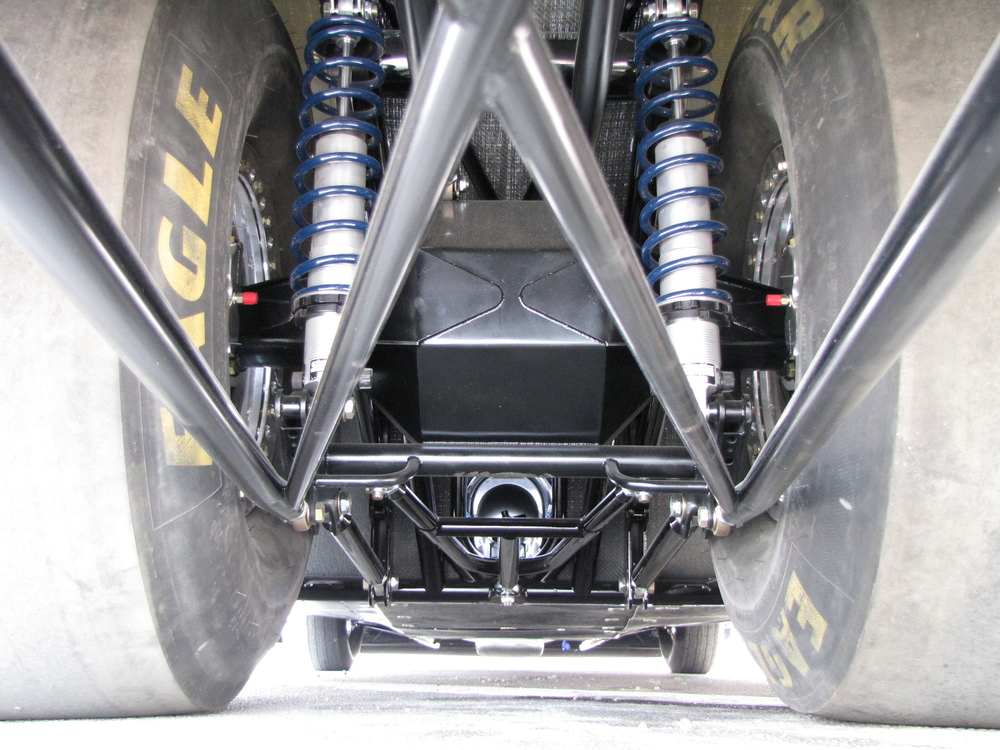 Rear suspension components.