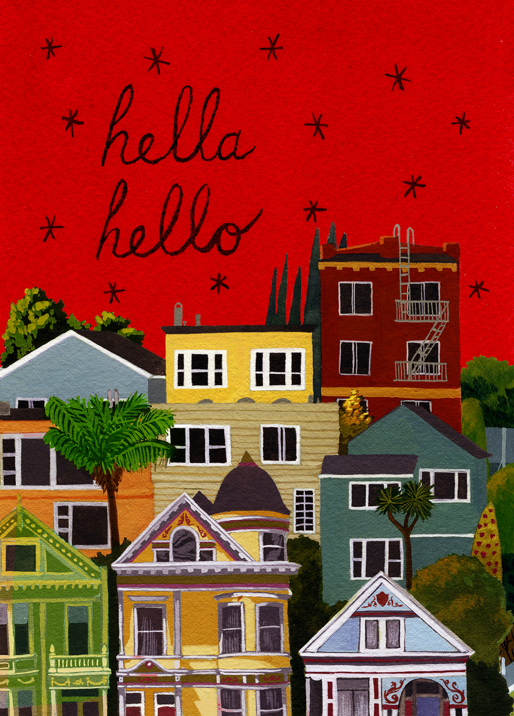 Hella Hello Postcards