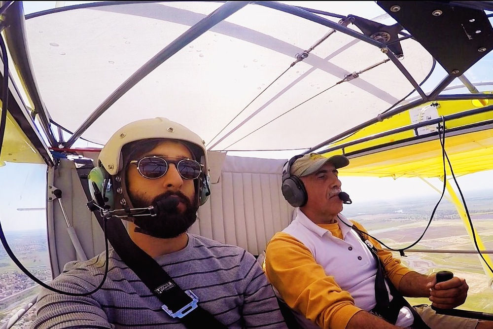 Manouch flies us down to Lodi in his RANS S-6 Coyote II for install work.