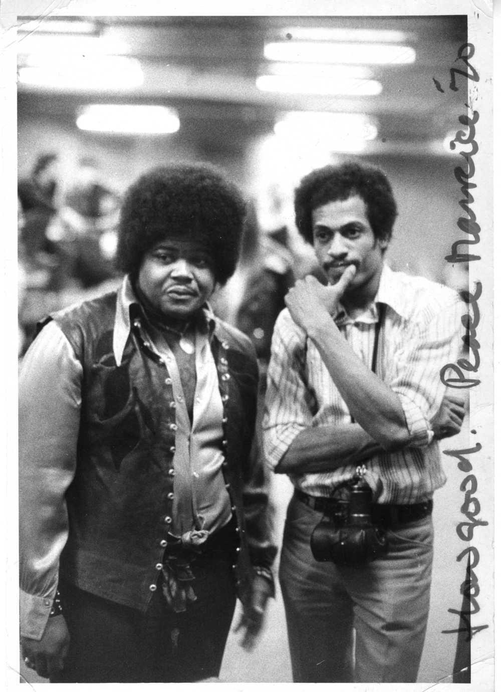 Jim Cummins & Buddy Miles behind stage at MSG Hendrix Concert copy.jpg
