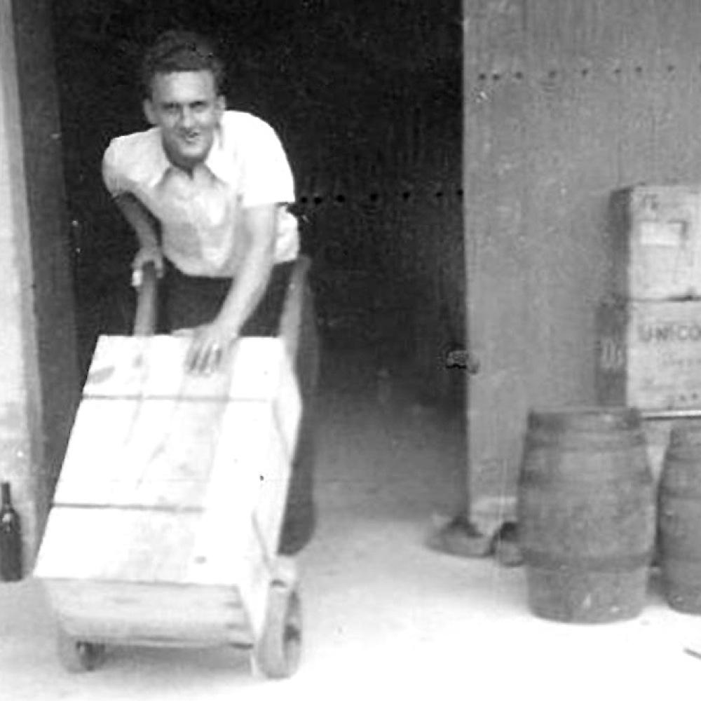 Preparing a wine shipment - Circa 1948