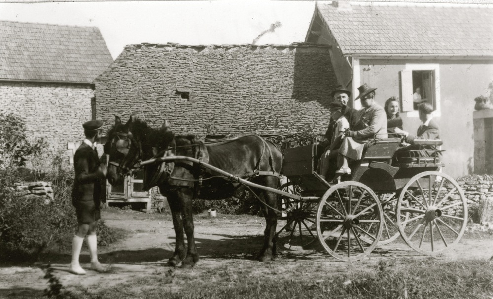 Leaving for church - The Dordogne family farm had become a Summer retreat - Circa 1939