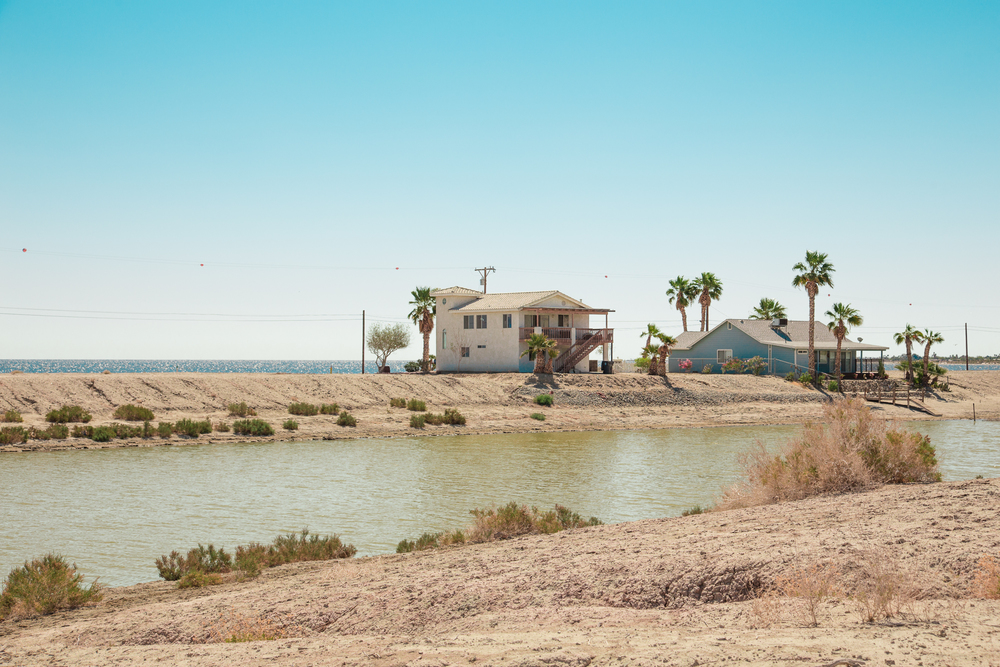 Houses along Desert Shores - The Salton Sea, CA
