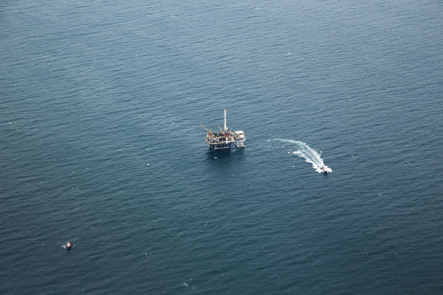 Oil Platform off the Coast of Long Beach