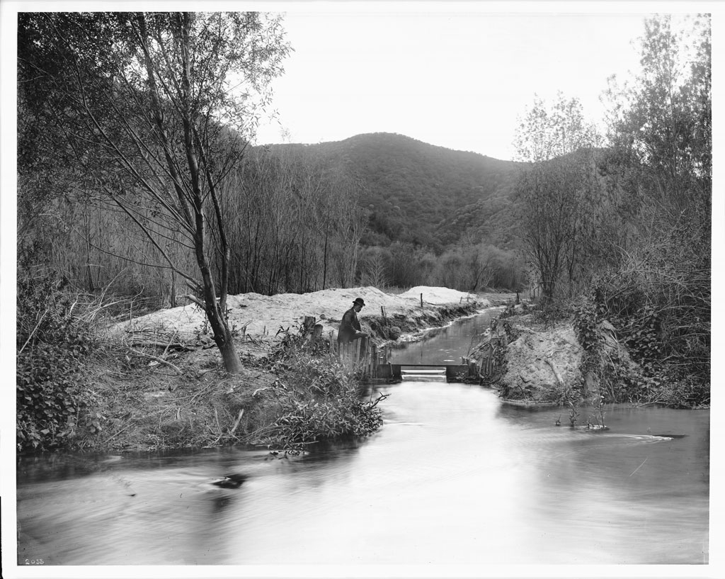 losangelespast :     The Los Angeles River at Griffith Park, circa 1898.