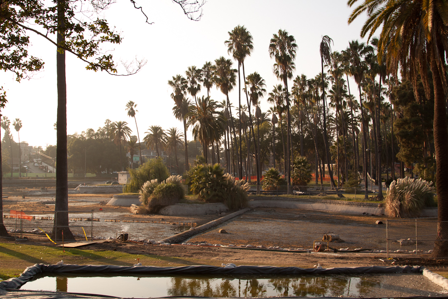 Echo Park Lake, Drained 21st of sept