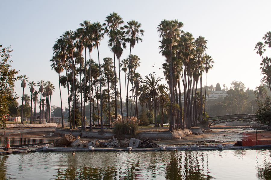 The Island in echo park lake