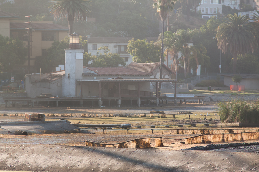 Echo Park Lake,  Drained