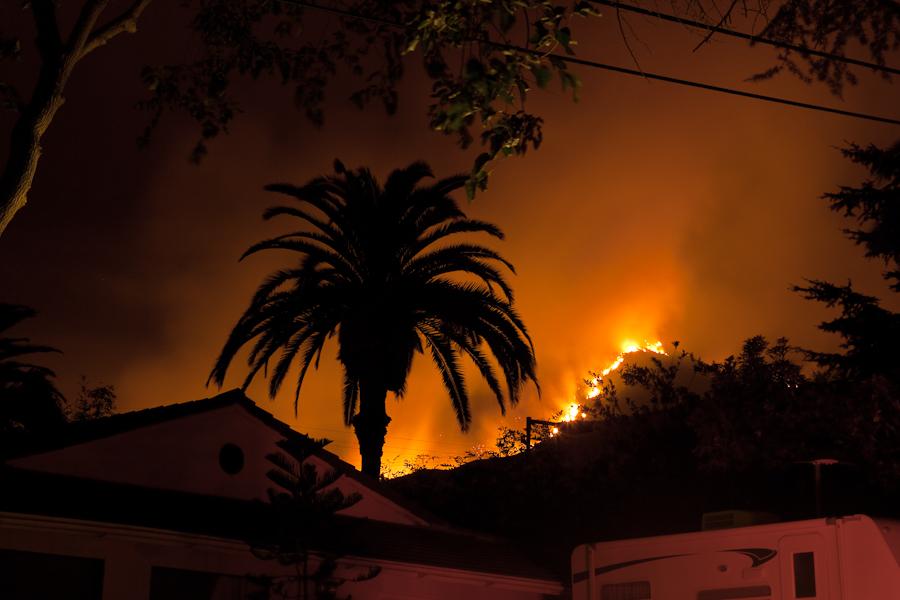 Altadena on fire