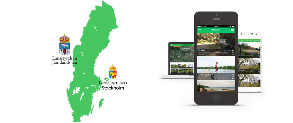 Låt dig inspireras av Jämtlands Naturkarta på  webben , för  iPhone  och för  Android .