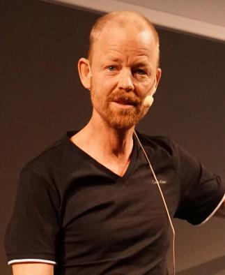 Kristofer Björkman, medgrundare av Naturkartan, föreläser på Folk och Natur 2016