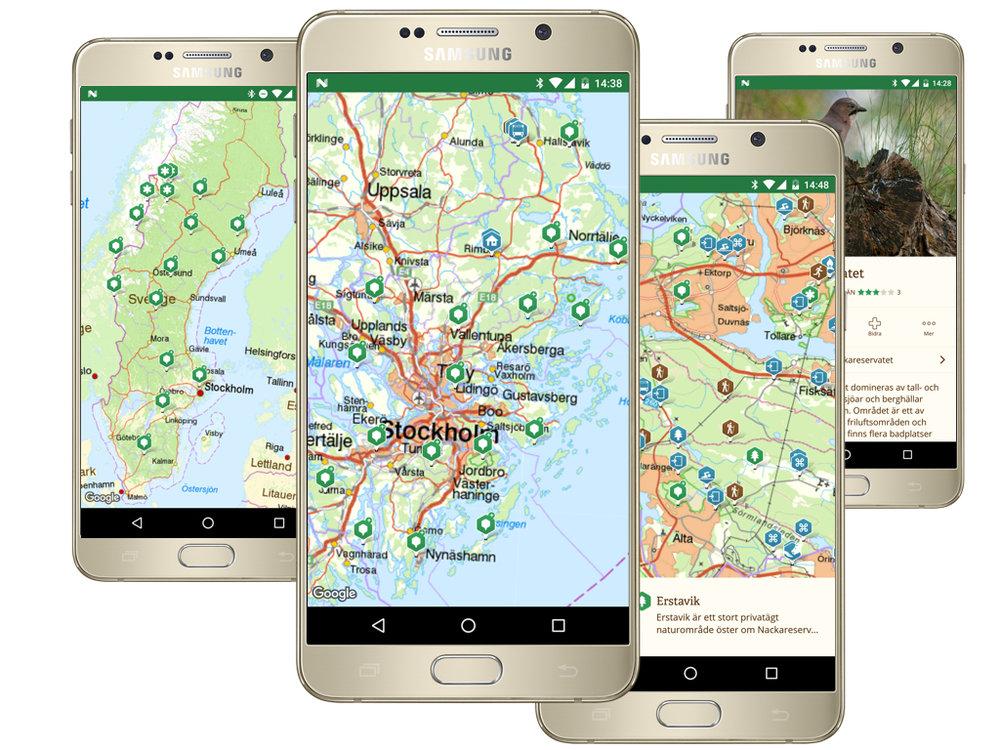 Appen framtagen i samarbete med Sveriges främsta friluftskommuner och länsstyrelser - snart i var mans mobil
