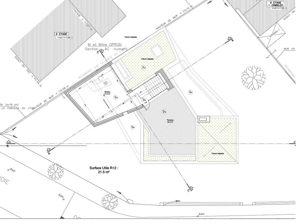 Plan du 2eme étage