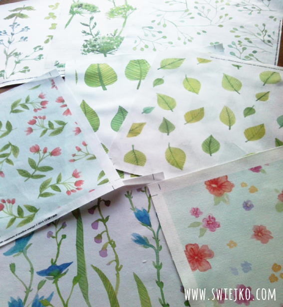 watercolor fabric design - swiejko.com