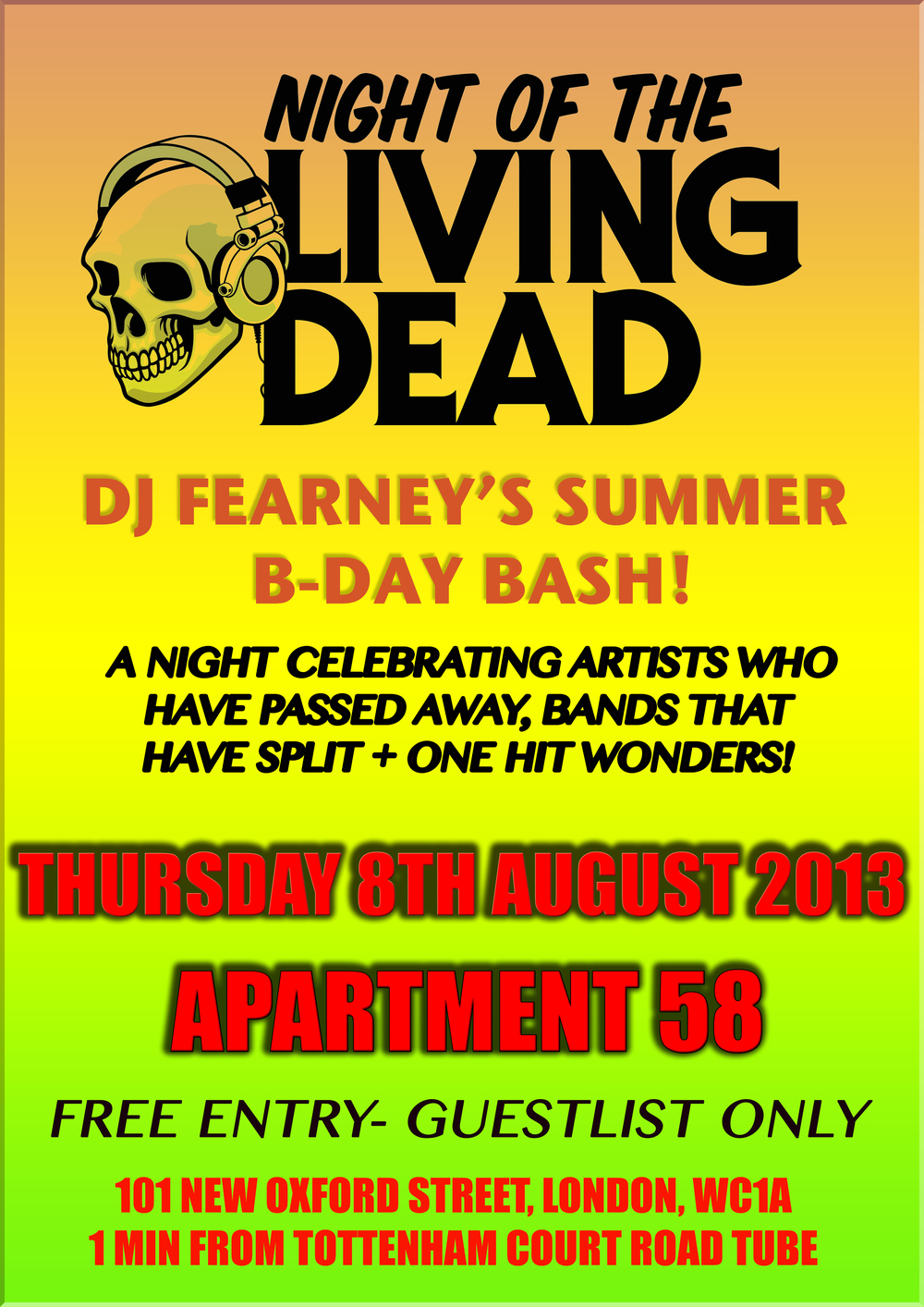 Night of the Living Dead- DJ Fearney's bday bash!