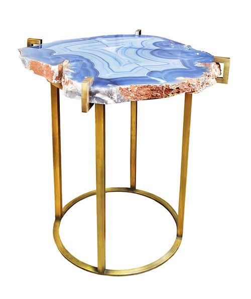 Agate side table via CocoKelley