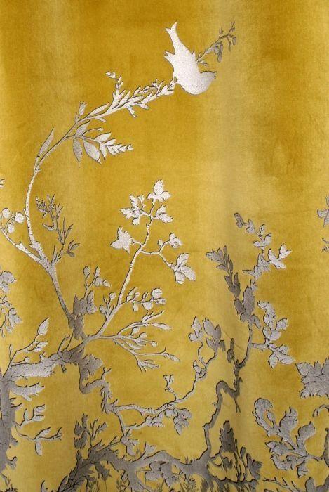 Timorous Beasties Fabric- Birdbranch Velvet Panel