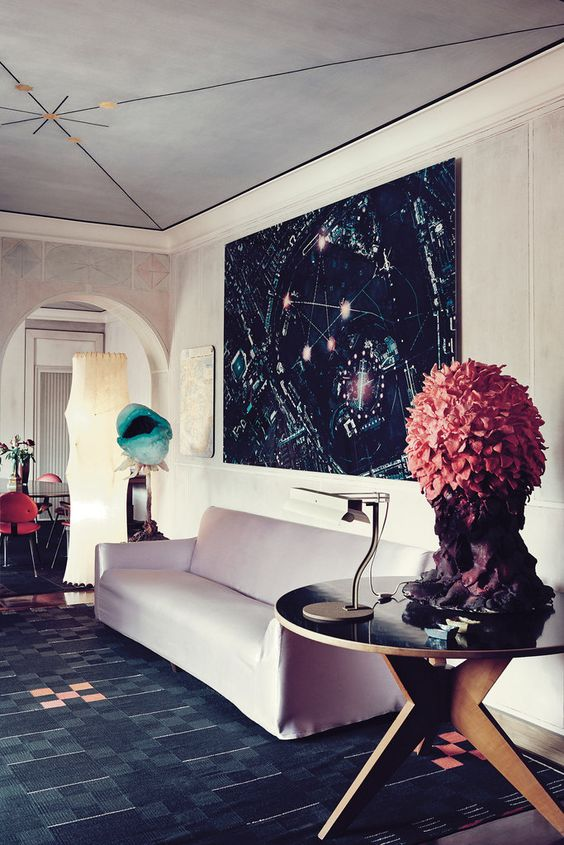 Gallerist Nina Yashar - home of the milan based art dealer - NY Times