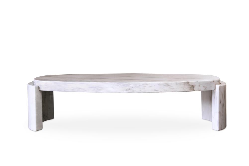 Tacca [[white Carrara marble center table///table de centre en marbre blanc Carrare]]