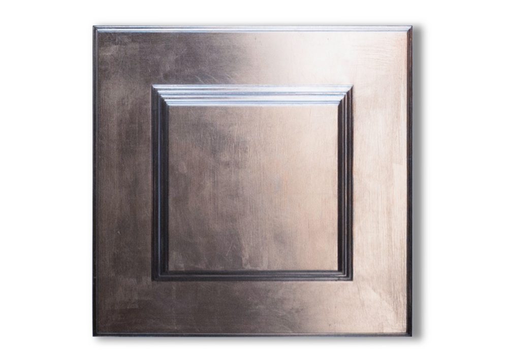 50 x 50cm silver gilded wood ceiling panel - all rights reserved