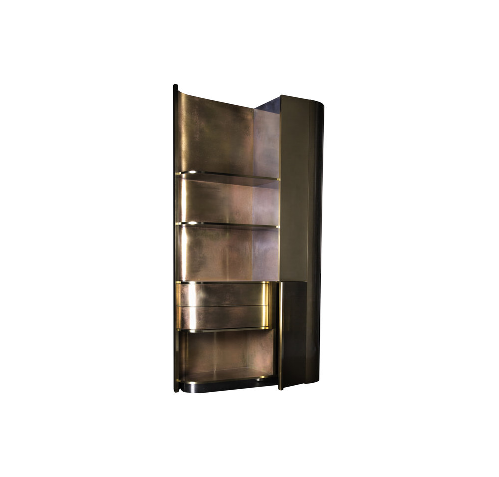 Tall Brass Cabinet  by Privatiselectionem