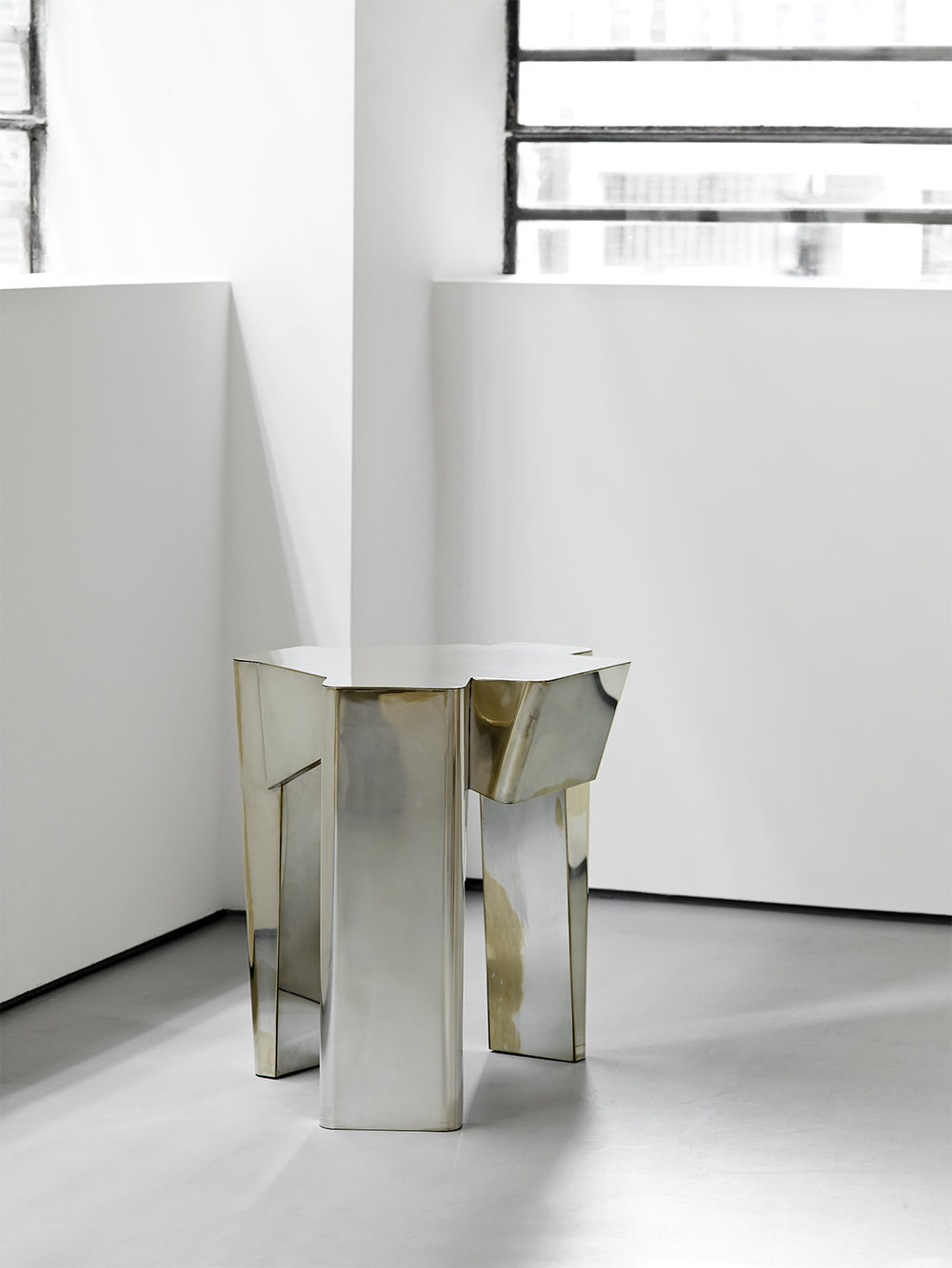 DC1617 silver plated brass side table Vicenzo de Cotiis 2016