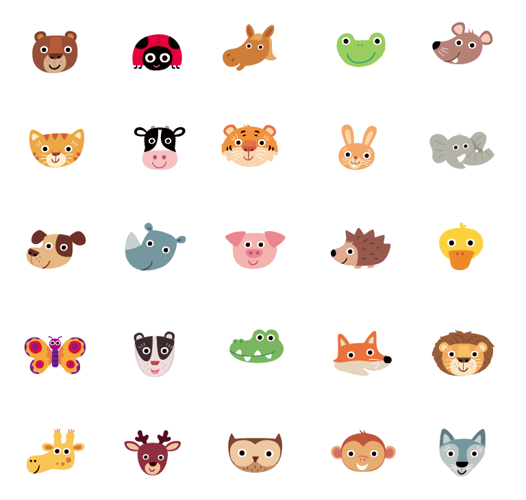 Animal Spot Illustration icons