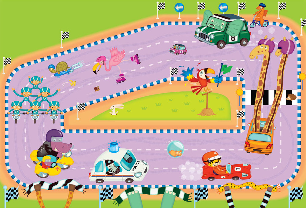 Car race illustration