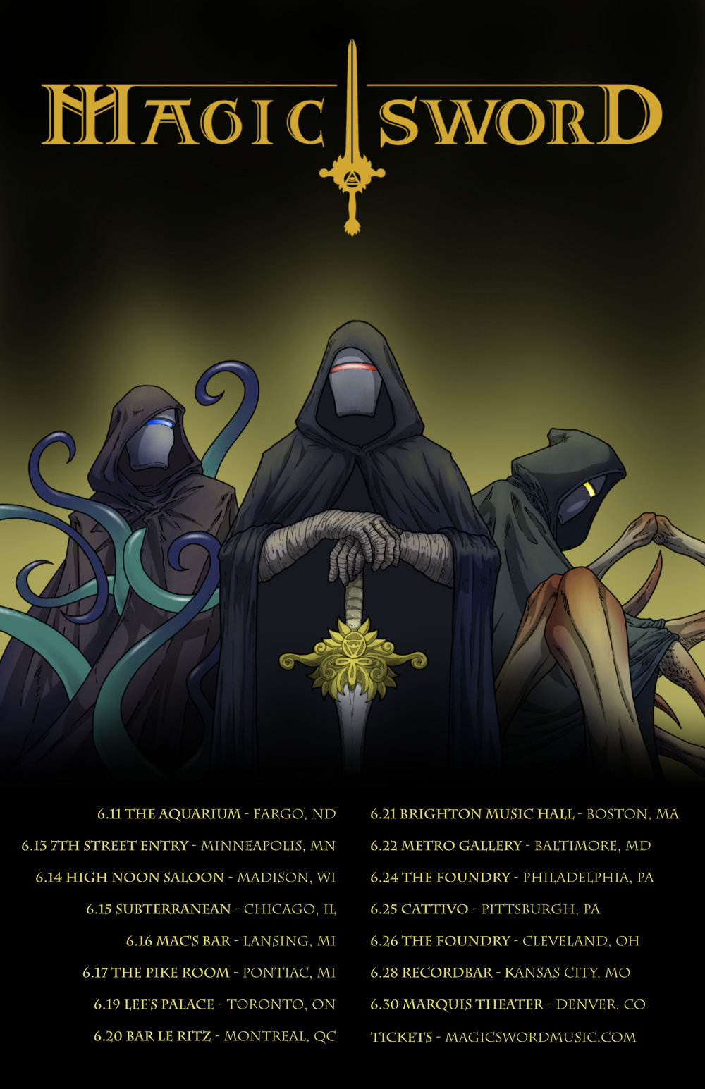 Magic Sword Spring 2018 Tour
