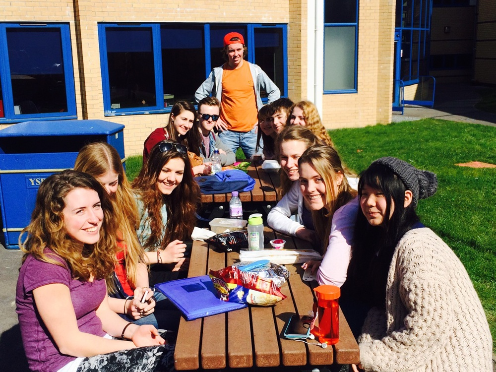 The College CU meeting in the open air during a beautiful summers day!